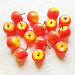 Яблоко-декор 3 см красно-оранжевое (муляж фруктов)