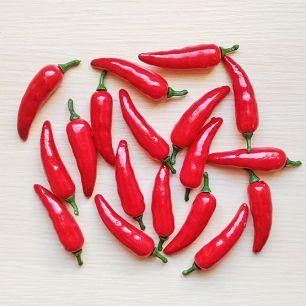 Перец чили 7 см красный (муляж фруктов)