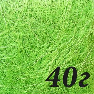 40 г Сизаль ярко-зеленый (сизалевое волокно)