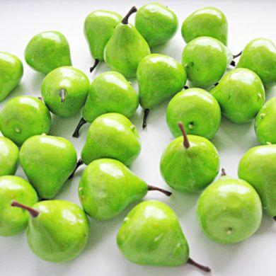 Груша-декор 3.5 см зеленая (муляж фруктов)